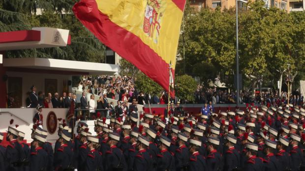Imagen del desfile del 12 de octubre con motivo del día de la Fiesta Nacional