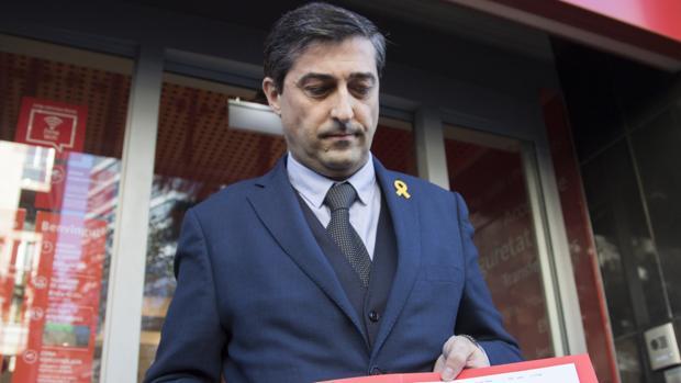 El tesorero de la ANC, Marcel Padrós, tras pagar la fianza de los seis exconsellers en prisión preventiva