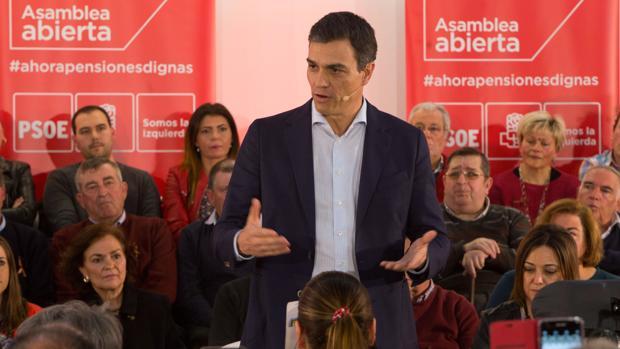 Pedro Sánchez, en una asamblea