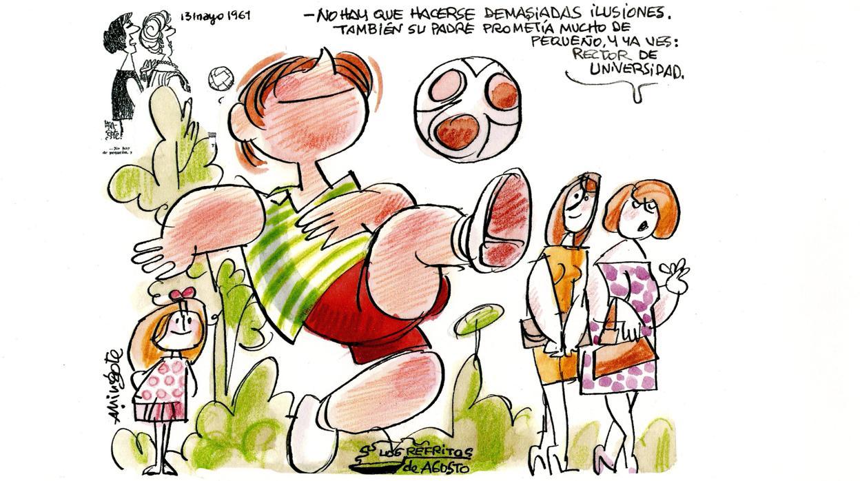 Mingote y los futbolistas