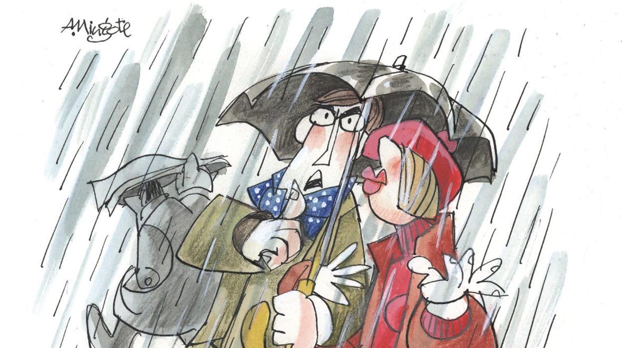 Mingote y la lluvia
