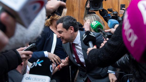 El presidente electo de la Junta de Andalucía, Juanma Moreno,