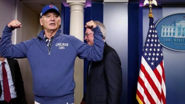 Bill Murray lo vuelve a hacer: se cuela en la Casa Blanca