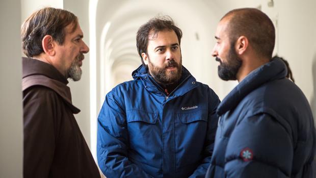 Karra Elejade, Alain Hernández y el director Curro Velázquez