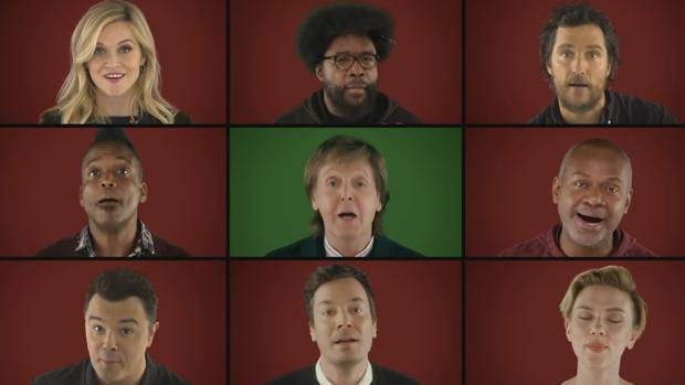 Los actores de «Canta» y Paul McCartney protagonizan la felicitación más divertida de la Navidad