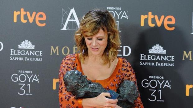 Emma Suárez, ganadora de dos Premios Goya el pasado cuatro de febrero