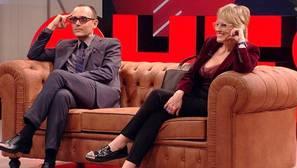 Risto Mejide y Mercedes Milá en el programa de Cuatro