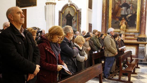Misa en Toledo a finales de febrero