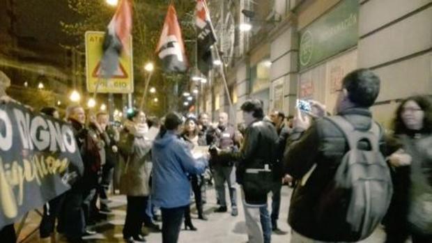 Los figurantes protestan en los Premios de la Unión de Actores