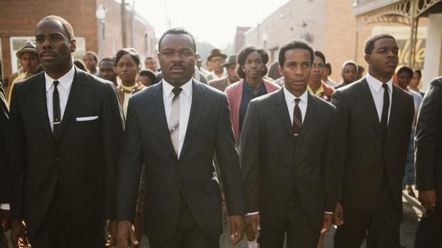 Fotograma de «Selma», protagonizada por David Oyelowo (segundo por la derecha)