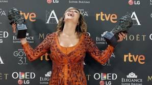 Emma Suárez, triunfadora en la última gala de los Premios Goya, la gran ceremonia del cine español