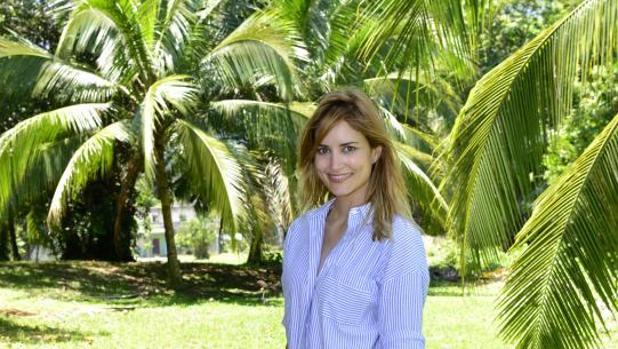 Alba Carrillo, a su llegada a la isla