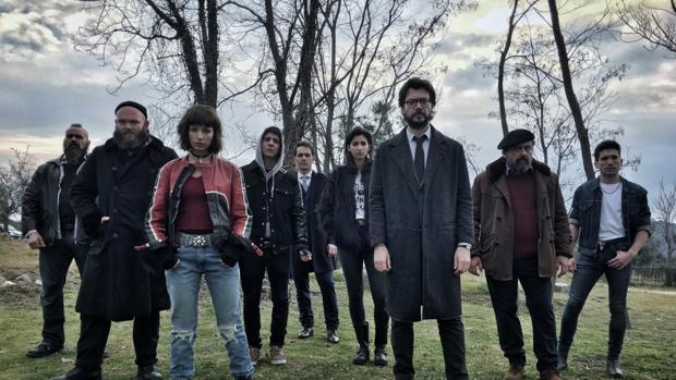Los protagonistas de «La Casa de Papel», que se emite en Antena 3