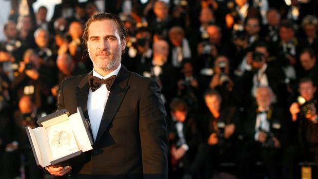 Joaquin Phoenix, en Cannes tras recibir el premio al Mejor Actor