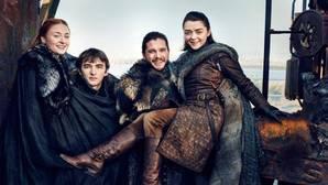 Los hermanos Stark, durante el rodaje de «Juego de Tronos»
