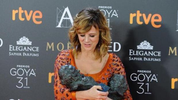 Emma Suárez ganó en las categorías de mejor actriz protagonista y de reparto en la pasada edición de los Goya