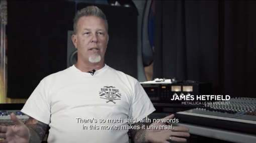 James Hetfield, vocalista de Metallica, durante el documental