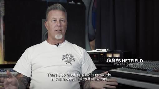 James Hetfield, vocalista de Metallica, durante el documental