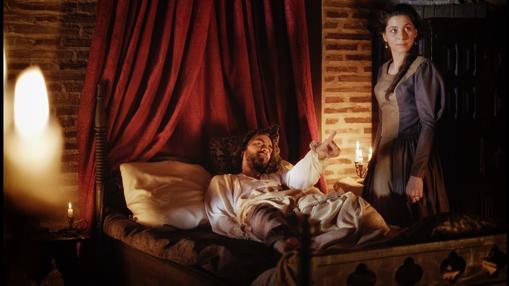 Ignacio de Loyola después de sufrir una grave lesión durante la defensa de Pamplona