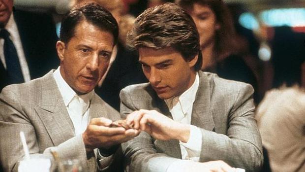 Fotograma de la película de «Rain Man», con los dos hermanos protagonistas en un casino de Las Vegas