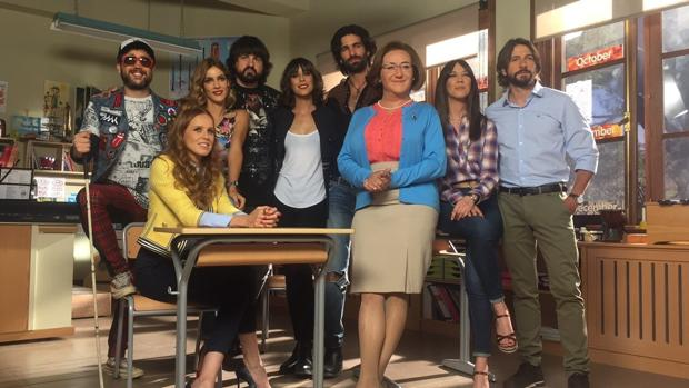 Los protagonistas de la nueva serie de Telecinco, «Ella es tu padre»