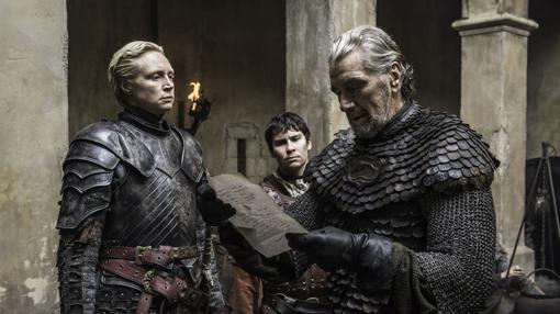 El Pez Negro, junto a Brienne de Tarth, antes de la caída de Aguasdulces