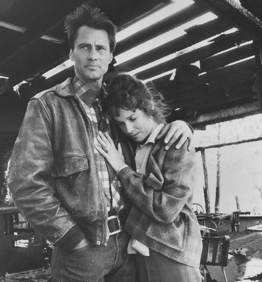 Sam Shepard y Barbara Hershey en «Elegidos para la gloria»