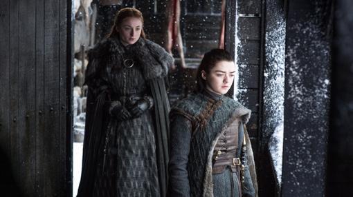 Sansa y Arya Stark, en «Juego de Tronos»