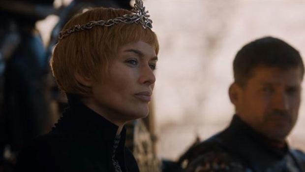 Cersei Lannister en el último capítulo de «Juego de tronos»