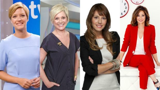 Las presentadoras de los programas matutinos en la televisión