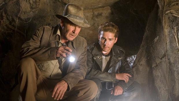 Harrison Ford y Shia LaBeouf en Indiana Jones y el reino de la calavera de cristal