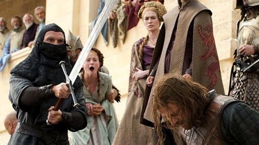 Escena de la muerte de Ned Stark