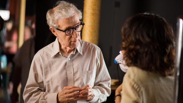 Woody Allen en uno de sus últimos rodajes