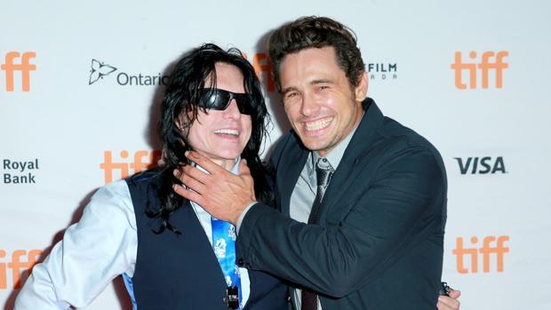 Tommy Wiseau y James Franco en Toronto