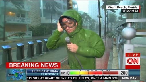 El meteorólogo Derek Van Dam en CNN