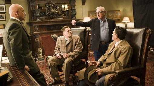 DiCaprio y Scorsese, durante la grabación de «Shutter Island»