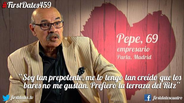 «Yo prefiero ir a la terraza del Ritz», así se presento Pepe en First Dates