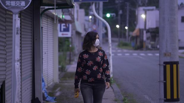 Alejandra Andrade, en Fukushima