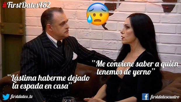 El matrimonio Adams apareció de pronto en el restaurante de First Dates