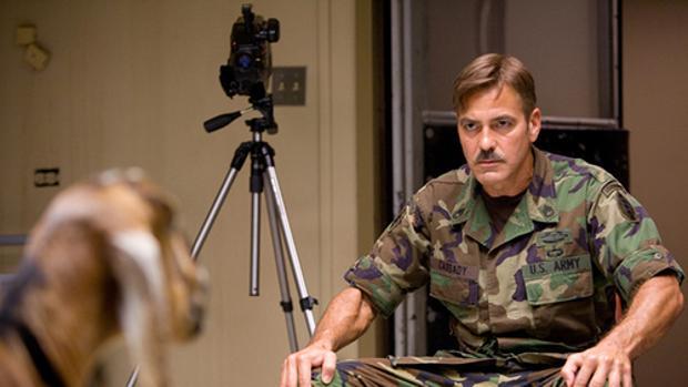 George Clooney en «Los hombres que miran fijamente a las cabras»