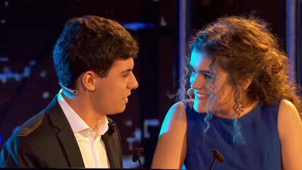 Alfred y Amaia, durante su actuación estelar en OT