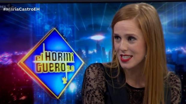 María Castro, en «El Hormiguero»