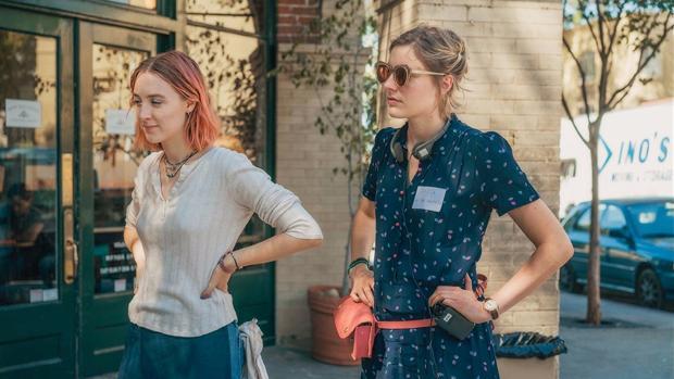 Saoirse Ronan y Greta Gerwig, protagonista y directora de «Lady Bird»