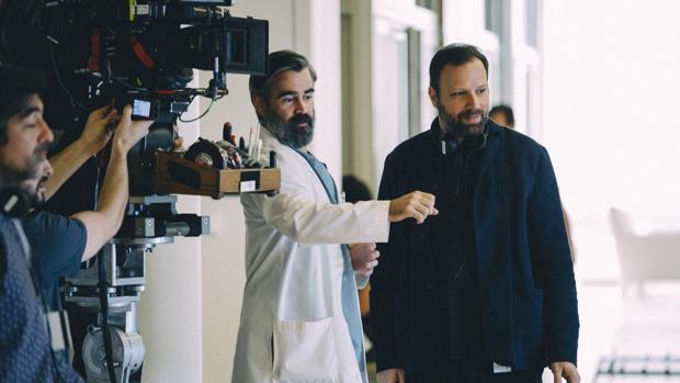 Colin Farrell y Yorgos Lanthimos durante el rodaje de «El sacrificio de un ciervo sagrado»