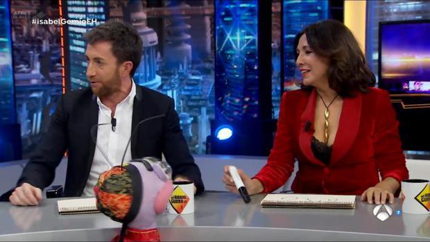 Isabel Gemio durante su entrevista en «El Hormiguero»