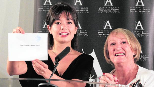 Anna Castillo e Yvonne Blake en septiembre, cuando se anunció la candidatura de Verano 1993