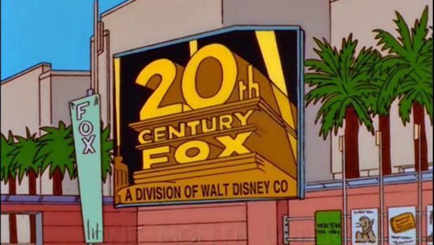 Fotograma del capítulo de «Los Simpson» que anticipó la transacción entre Fox y Disney