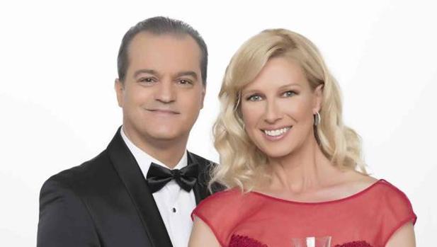 Ramón García y Anne Igartiburu, presentadores de las campanadas de TVE