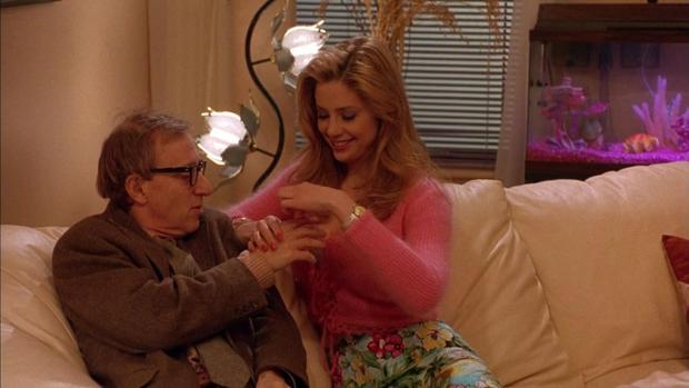 Woody Allen y Mira Sorvino en «Poderosa afrodita»