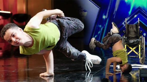 Hamza, en el escenario de «Got Talent»